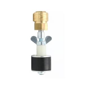 Rohrverschlussstopfen 8 bar mit Durchgang und Schnellverschlusskupplung