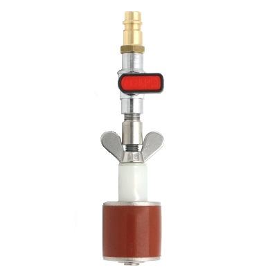 Rohrverschlussstopfen Silikon 8 bar (mit Durchgang, Kugelhahn und Kupplungsstecker)