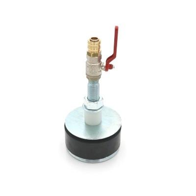 Hochdruckrohrendverschluss 12 bar (mit Durchgang, Kugelhahn und Schnellverschlusskupplung)