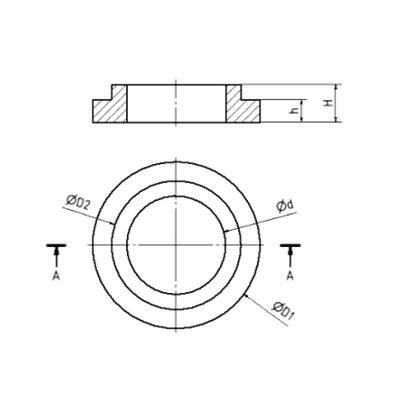 Ganz-Metall-Drahtkissen Typ GMKB Zeichnung