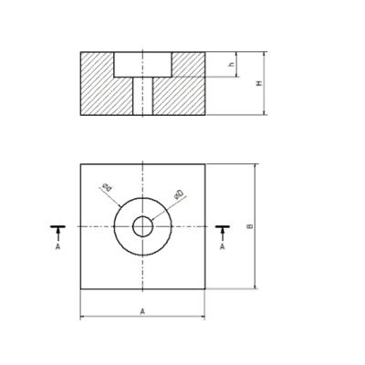 Ganz-Metall-Drahtkissen Typ GMKR Zeichnung