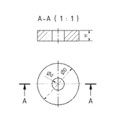 Ganz-Metall-Drahtkissen Zeichnung