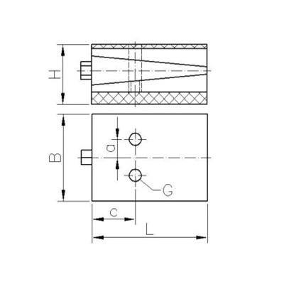Präzisionskeilschuh Typ KS a (anschraubbar) Zeichnung
