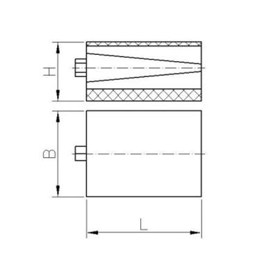 Präzisionskeilschuh Typ KS-f (freistehend) Zeichnung