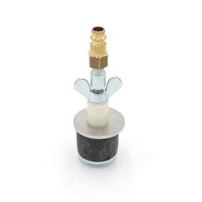 Rohrverschlussstopfen mit Deckplatte 8 bar (mit Durchgang und Kupplungsstecker)
